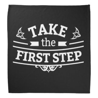 Take The First Step Bandana