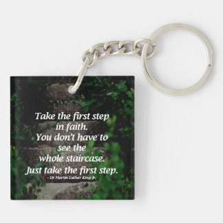 Take the first step. . . keychain