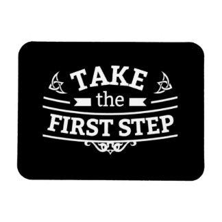 Take The First Step Rectangular Photo Magnet