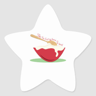 Take The Frosting leave the bowl Star Sticker