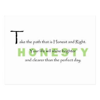 Take the Path that is Honest Postcard