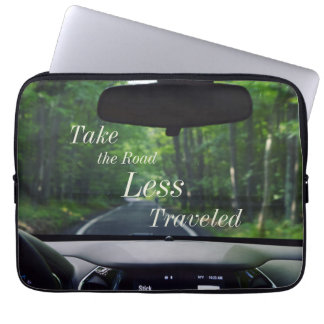 Take The Road Less Traveled Quote Laptop Case Laptop Computer Sleeve