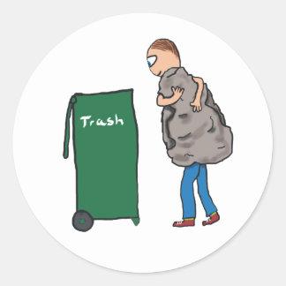 Take The Rubbish Out Classic Round Sticker