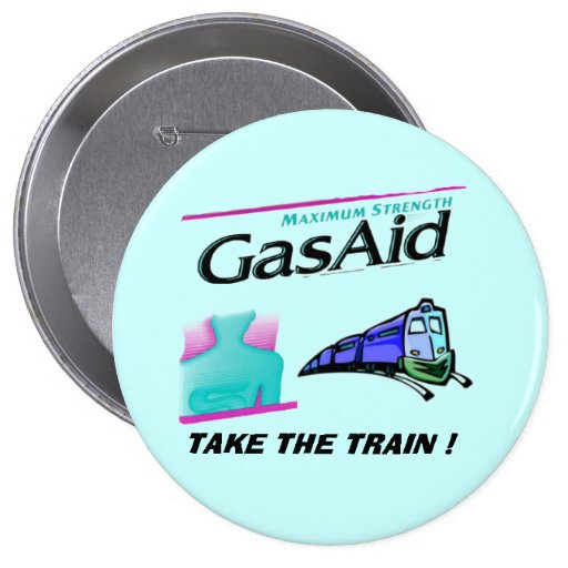 Take the train ! - Relief for GAS PAINS. Buttons