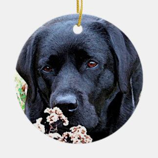 Take Time - Black Labrador Ceramic Ornament