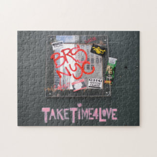 Take Time For Love NYC Photography Graffiti Jigsaw Puzzle