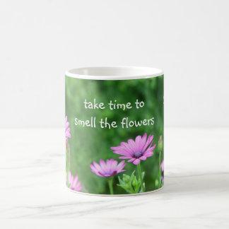 Take time for Purple Daisies Coffee Mug