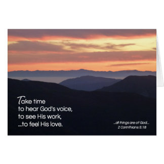 Take Time...Religious Card