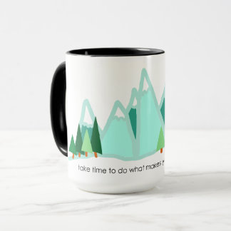 Take Time to Do What Makes You Happy Ringer Mug