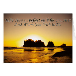 take time to reflect card