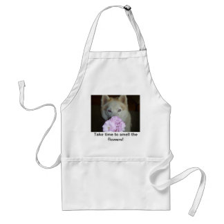 Take time to smell the flowers! standard apron