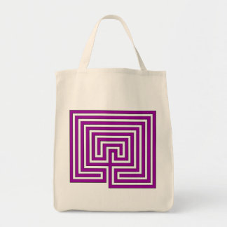 Take Your Labyrinth with You - Purple Image on Bag