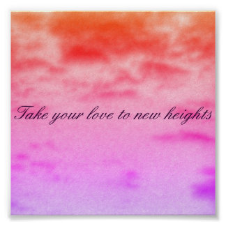 take your love to new heights poster