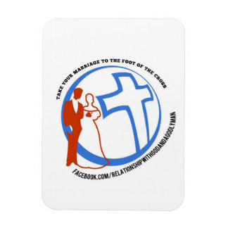Take your marriage to the foot of the cross rectangular photo magnet