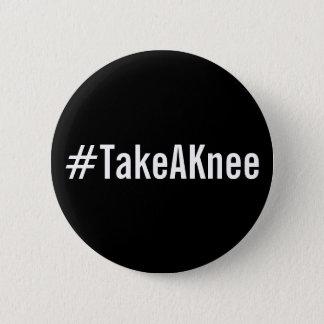 #TakeAKnee, bold white text on black button