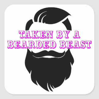 Taken By A Bearded Beast FB.com/USAPatriotGraphics Square Sticker
