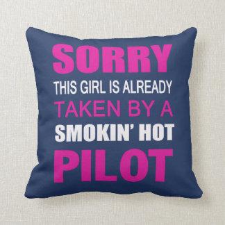 Taken by a Pilot Throw Pillow