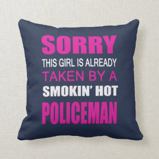 Taken By A Policeman Throw Pillow