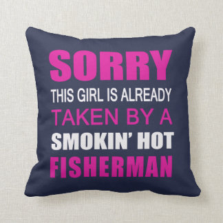 Taken By Fisherman Throw Pillow