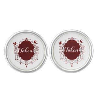 Taken Cute Gothic Valentines day cuff links