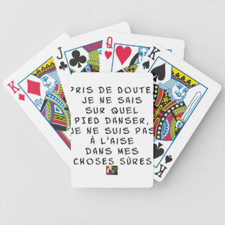 Taken of DOUBT I cannot about which FOOT dance, I Bicycle Playing Cards