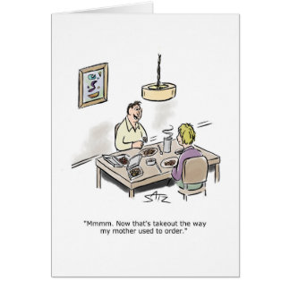 Takeout food greeting card