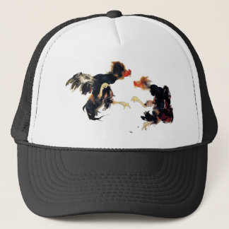 Takeuchi 栖 鳳 gamecock fighting chicken chicken trucker hat