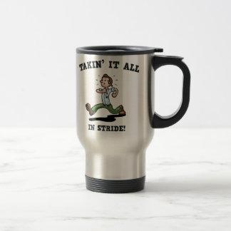 Takin' It All In Stride Coffee Mug