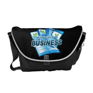 Taking care of Business dark Messenger Bag