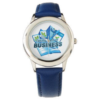 Taking care of Business Stainless Steel Blue Watch