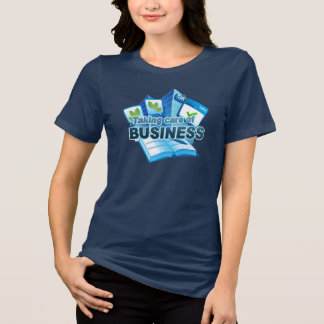 Taking care of Business Women's navy T-Shirt