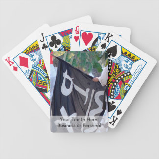 taking down pirate flag poster image bicycle playing cards
