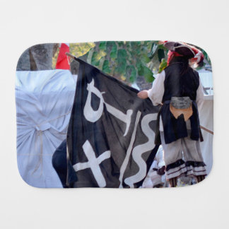 taking down pirate flag poster image burp cloth