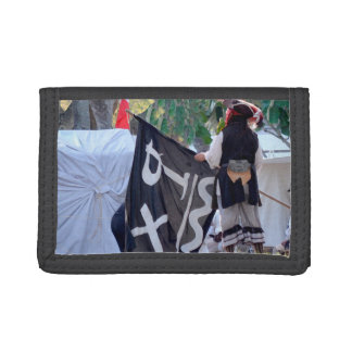 taking down pirate flag poster image tri-fold wallet