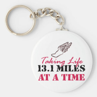 Taking Life 13.1 miles at a time Basic Round Button Keychain
