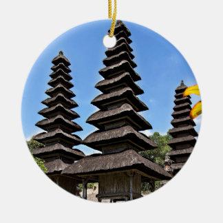 Taking man Ayun Temple, Bali Round Ceramic Ornament