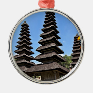 Taking man Ayun Temple, Bali Silver-Colored Round Ornament