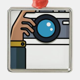 Taking Photos Metal Ornament