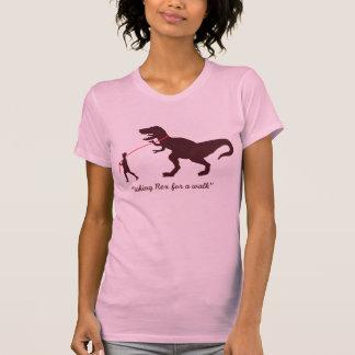 taking Rex for a walk T-Shirt - Customized