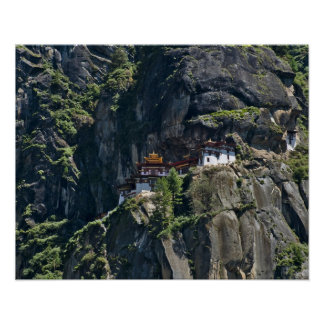 Taktsang Monastery on the cliff, Paro, Bhutan Poster