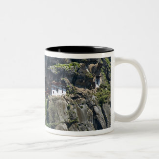 Taktsang Monastery on the cliff, Paro, Bhutan Two-Tone Coffee Mug