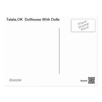 Talala Dollhouse with Dolls Postcard