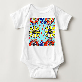 Talavera Baby Jersey Bodysuit- Flowers Baby Bodysuit