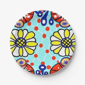 Talavera Paper Plate - Cinco de Mayo - Flowers