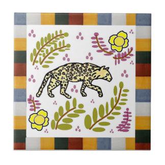 Talavera Style Tile - Ocelot