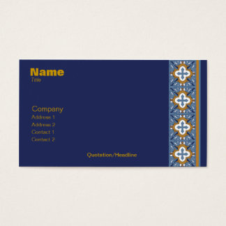 Talavera Tile Business Card - Blank Back