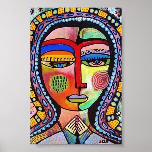 Talavera Virgin of Guadalupe ENLIGHTENMENT Poster