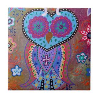 TALAVERA WISE OWL TILE