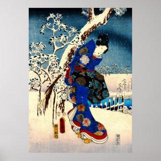 Tale of Genji 1853 Left Poster