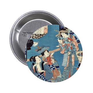 Tale of the courtesan Kokonoe by Utagawa, Toyokuni Buttons